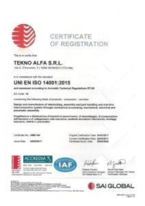 Certifications - Teknoalfa
